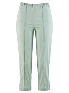 Caprihose Baumwoll-Highstretch Mint Detail 3