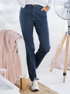 Coolmax-Jeans Komfortbund Dunkelblau Detail 1