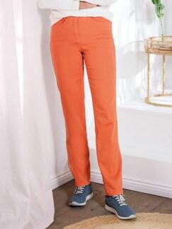Komfortbundhose Satinstretch Orange Detail 1