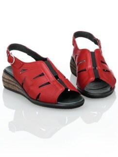 125 Gramm-Sandalette Rot Detail 1