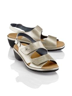 Frische-Sandale Beige metallic Detail 1