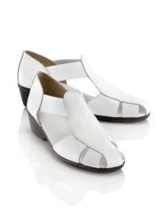 Superflex-Sandalenschuh Weiß Detail 1