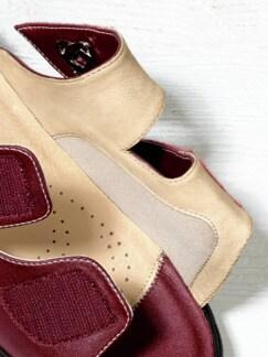 Hallux-Klett-Pantolette Rot Detail 4