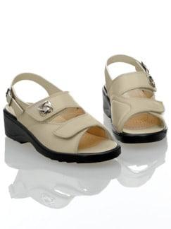 Hallux-Klett-Sandalette Beige Detail 1