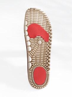 Damen-Gesund zu Fuß-Clog Marine Detail 3