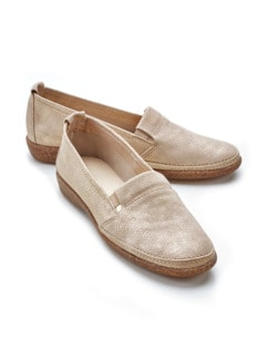 Butterweich-Slipper Beige/Gold Detail 1