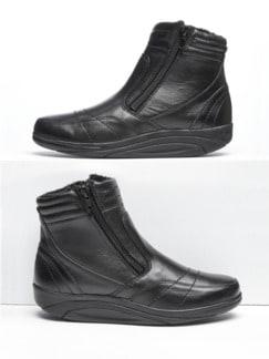 Rollsohlen-Stiefel Schwarz Detail 1