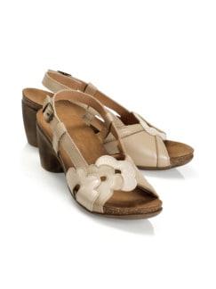 Hallux-Sandalette-Blütentraum Sand/Perlmutt Detail 1