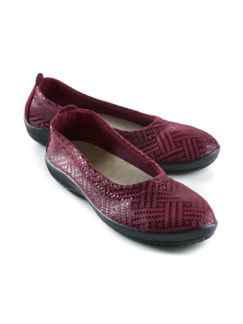 Hallux-Soft-Slipper Flechtmuster Bordeaux Detail 1