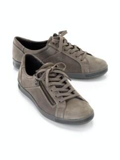 Reißverschluss-Sneaker Shiny low Taupe Detail 1
