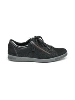 Reißverschluss-Sneaker Shiny low Schwarz Detail 2
