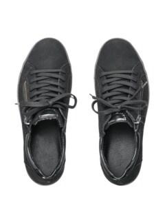 Reißverschluss-Sneaker Shiny low Schwarz Detail 3