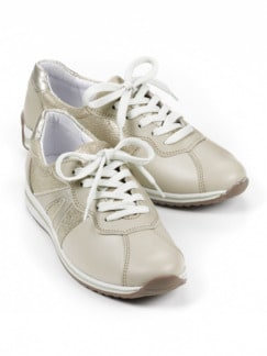 Hallux-Sneaker Weekend-Feeling Beige/Gold Detail 1