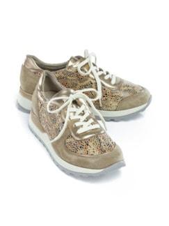 Waldläufer-Prophylaxe-Sneaker Sand gemustert Detail 1