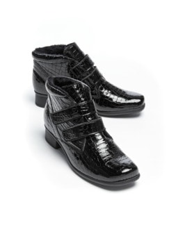 Thermo-Light-Stiefelette Kroko Schwarz Detail 1