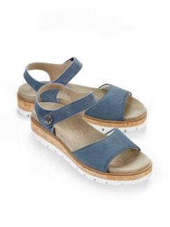 Hallux-Sandale Polstertraum Jeansblau Detail 1