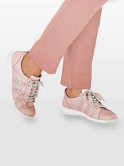 Leder-Leicht-Sneaker Rosé Detail 3