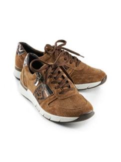 Reißverschluss-Sneaker Komfortplus Cognac Detail 1