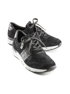 Reißverschluss-Sneaker Komfortplus Schwarz Detail 1