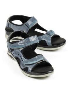 Damen-Hallux-Trekking-Sandale Jeans Detail 1