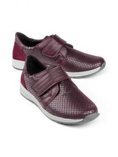 Hallux-Klett-Sneaker 180 Grad Bordeaux Detail 1