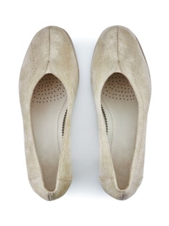 Softgel-Pumps Beige metallic Detail 3