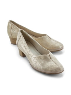 Softgel-Pumps Beige metallic Detail 1