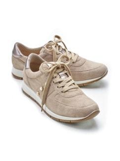 Ziegenleder-Sneaker Softness Beige Detail 1