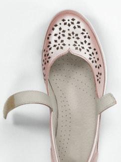 Klett-Ballerina Komfort Rosé metallic Detail 3