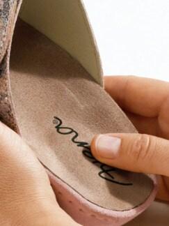 Klett-Pantolette Gelpolster Rosa Detail 3