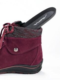 Thermo-Boots Kuschelschaft Bordeaux Detail 4