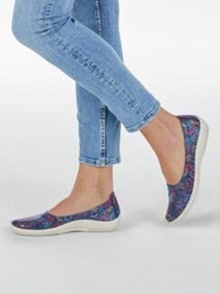 Hallux-Soft-Slipper Blütentraum Jeans geblümt Detail 3