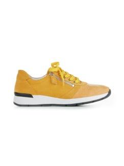 Hallux-Sneaker Polstertraum Gelb Detail 2
