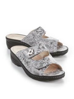 Hallux-Pantolette Glücksgefühl Weiß/Silber gem Detail 1