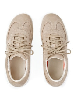 Green Comfort-Sneaker Federleicht Beige Detail 4