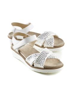 Hallux-Sandale Softness Weiß/Silber Detail 1