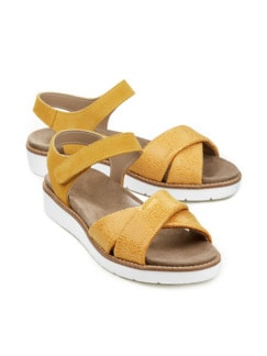 Hallux-Sandale Softness Gelb Detail 1