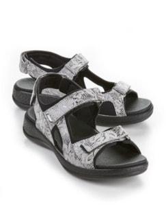 Hallux-Trekking-Sandale Weiß/Silber Detail 1