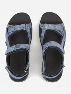 Hallux-Trekking-Sandale Jeansblau Detail 3