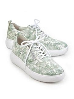 Waldläufer-Sneaker Softtritt Grün/Weiß Detail 1