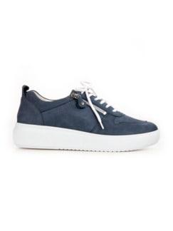 Waldläufer-Sneaker Softtritt Jeansblau Detail 2