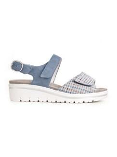 Hallux-Sandale de Luxe Hellblau Detail 2