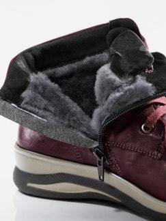 Hallux-Lammfell-Boots Sporty Bordeaux Detail 3