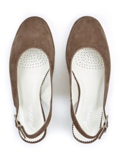 Softgel-Slingpumps Taupe Detail 3