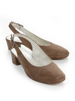 Softgel-Slingpumps Taupe Detail 1