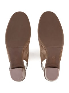 Softgel-Slingpumps Taupe Detail 4