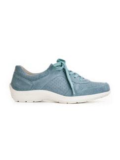 Bequem-Sneaker Rutschsicher Hellblau Detail 2