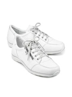 Hirschleder-Sneaker Weiß Detail 1