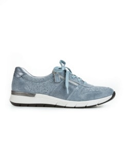 Reißverschluss-Sneaker Komfortplus Hellblau Detail 2