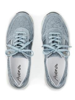 Reißverschluss-Sneaker Komfortplus Hellblau Detail 3